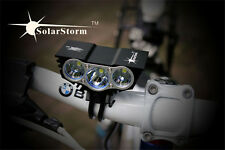 SolarStorm 6000LM 3X CREE XML-U2 Led Mountain Bike Light Rechargeable cycle lamp