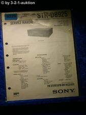 Sony Service Manual STR DB925 FM/AM Receiver (#5225)
