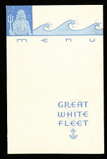 1935 SS Sixaola Dinner Menu - Great White Fleet / United Fruit Company