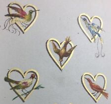 1865 Eight of Hearts Exotic Birds Hangard-Maugé Chromolithographed Playing Card