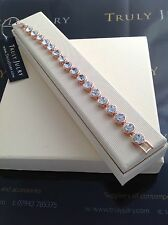 Luxurious Designer Ladies Bracelet In Rose Gold And Crystal. Gift Boxed