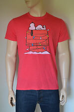 NEW Abercrombie & Fitch Charlie Brown Snoopy Peanuts Graphic Tee T-Shirt Red XXL