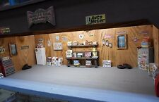 MUSCLE CAR GARAGE 1:24th SCALE, DETAILED, LIGHTED,  DISPLAY FOR YOUR VEHICLES