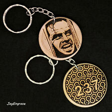 Jack Nicholson The Shining Heres Johnny Room 237 engraved wood keyring Keychain