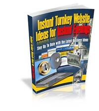 Instant Turnkey Website Ideas  Ebook On CD $5.95 + Resales Rights Free Shipping