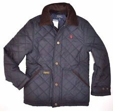 POLO RALPH LAUREN Boy  QUILTED JACKET HAGAN BARN COAT NAVY Corduroy WINTER S 8