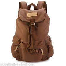 Caden F5 Camera Canvas Backpack with Rain Cover Removable Inner Bag Coffee New