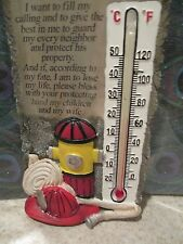 Fireman's Prayer Thermometer  #7709