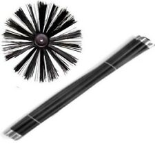 EXTRA LONG  11m Chimney Flue Cleaning Brush Sweep Sweeping Set Kit 12 Rods