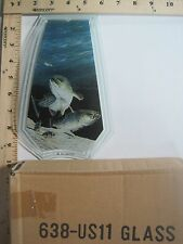 FREE US SHIP OK Touch Lamp Replacement Glass Panel Bass Fish in Water 638-US11