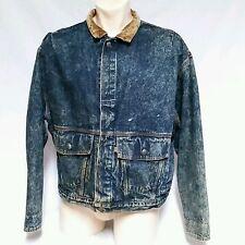 VTG Levis Barn Jacket Coat Acid Wash Denim Jean 60's 70's Made In USA Mens XL