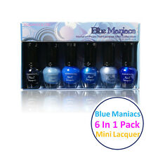 1 Set Kleancolor Blue Maniacs - World of Blues Nail Lacquer Mini Collection  602