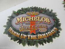 MICHELOB SPECIALTY ALES & LAGERS WARM UP HOLIDAYS BEER SIGN STORE DISPLAY
