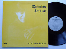Christine AUTHIER La muraille LP Disques JAM  (1984) chanson jazz NMINT/EX+