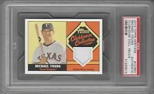 2010 Topps Heritage Game-Worn Jersey Michael Young #CCR-MY PSA Authentic