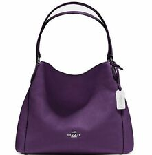 NWT $350 Coach 36464 Edie Shoulder Bag 31 Pebble Leather Aubergine Purple