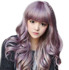 Japanese Harajuku Zippe mix Purple Gradient 75cm curly Lolita Cosplay Party Wig