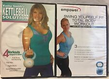 2 Kettlebell workout exercise fitness DVD lot, empower kathy smith solution