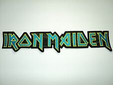 IRON MAIDEN SHAPED LOGO EMBROIDERED BACK PATCH