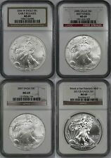 Lot 4 Mix Date - 2006-W 2006 2007 2011(S) Silver Eagle Dollar $1 MS 69 NGC
