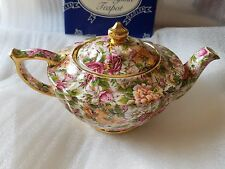 RARE James Sadler  ROSE Chintz 6-cup Teapot Made In England NEVER USED