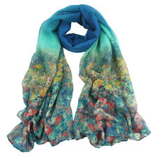 Flower Womens Ladies Voile Stole Scarves Long Neck Wraps Shawl Scarf 1