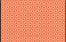 Michael Miller Shark Tooth Fabric in Orange. By The Fat Quarter