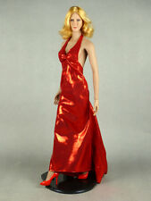 1/6 Scale Phicen, Hot Stuff, Hot Toys, SD - Sexy Female Red Satin Gown w/ Heels