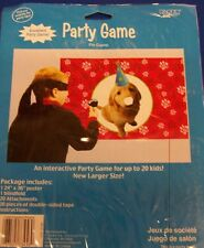 """Puppy Themed Birthday Party Pin Game  Pin the Nose on the Dog  24"""" x 36"""""""