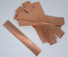 Copper Sheet, Bracelet Blanks 18ga 6 in. x 1 in. 1.02mm Thick Package Of 12