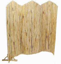 Bamboo Pole Flexible Screen Room Divider-Indoor/Outdoor w/Stand-Eco-Friendly