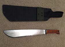 Custom Ontario bushcrafting Latin machete Blood Wood Grips Kydex Sheath Jungle