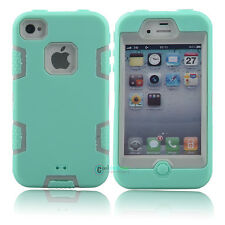 Hybrid Shockproof Shock Dirt Proof Impact Dual Layer Case Cover For iPhone 4 4S