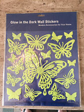 Glow in The Dark Wall Stickers 17 Pc Butterfly Collection