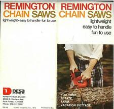 "REMINGTON CHAIN SAW - ""FOR HOME ESTATE, FARM, VACATION COTTAGE"" BROCHURE - BF1"
