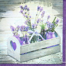 4x Single Table Party Lunch Paper Napkins for Decoupage Decopatch Craft Lavender
