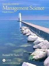 Introduction to Management Science with Student CD (9th Edition)-ExLibrary