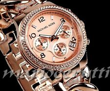 KORS Ladies Watch MK3247 pista MICHAEL Ros-Tono Oro-Nuevo Foto Real