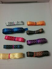 x9 lots silky Ribbon Dotty Polka Dots Dotted (Ref X1) 2,388cm in total