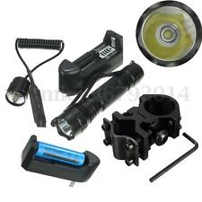 Elfeland 5000LM T6 LED Tactical Flashlight Torch Mount + Remote Switch + 18650
