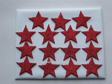 15 X Red Glitter estrellas Pastel Comestible Decoraciones Mediano 3cm.