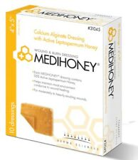 "Box 10 MEDIHONEY Calcium Alginate Wound Dressings 2"" x 2"" #31022 Derma Sciences"