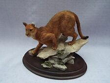 Country Artist Nature Trial Cougar  Figurine Ornament CA Wild Cat 747