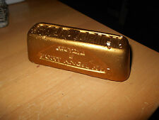 Vtg Fort Knox Ky Gold Brick  Bar Paperweight US Army~ Old Plaster Souvenir