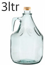 3l - 300cl - 3000ml - Glass bottles Demijohn Home Brewing Free P&P UK