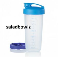 TUPPERWARE New QUICK SHAKE CONTAINER MIXER Raindrop BLUE Top Seller! fREEsHIP!