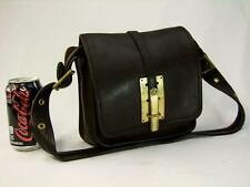 Rare Vintage Coach Bonnie Cashin 1960's Vintage Dark Brown Leather Shoulder Bag