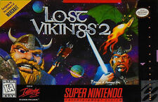 ***LOST VIKINGS 2 SNES SUPER NINTENDO GAME COSMETIC WEAR~~~