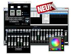 Profi DMX Software 512 Kanäle +USB 2.0 DMX Kontroller Interface USB3DMX