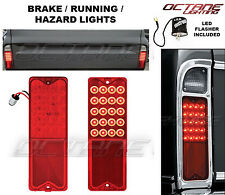 67-72 Chevy GMC Truck LED Park Brake Tail Light Turn Signal Lens Pair w/ Flasher